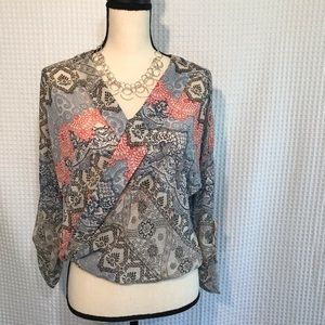 About A Girl Sheer Long Sleeve Blouse